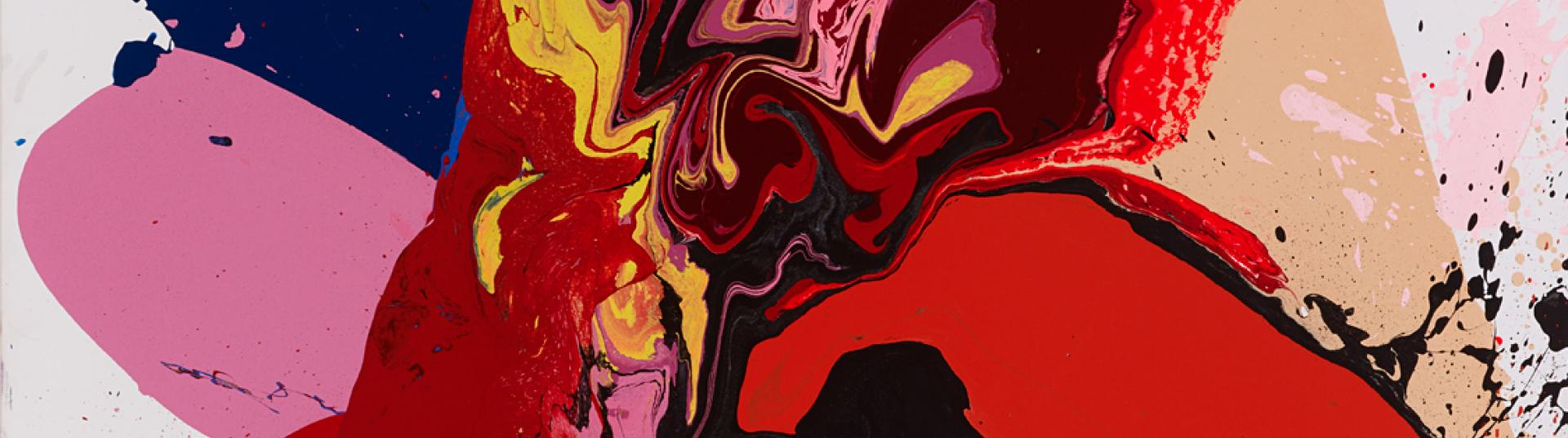 Sam Smith's abstract painting Squeeze and Rock.