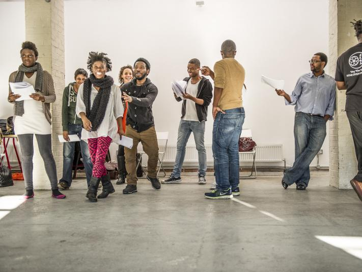 Members of Tangle's 2013 company in rehearsal.