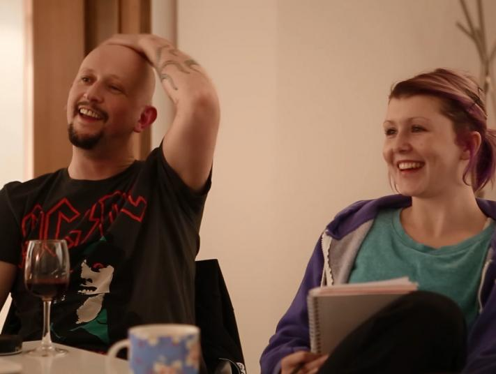 A man and woman taking part in one of the meetings arrange by South East Dance's Ambassador Programme