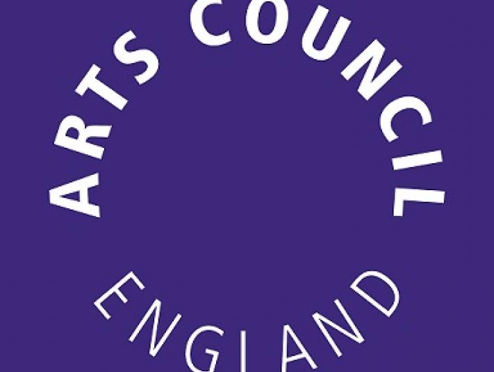 Arts Council England logo in purple.