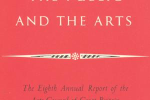 Cover of The Eighth Annual Report of the Arts Council of Great Britain 1952-1953.