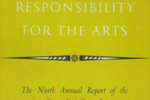 Cover of The Ninth Annual Report of the Arts Council of Great Britain 1953-1954.