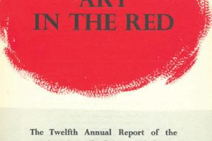 Cover of The Twelth Annual Report of the Arts Council of Great Britain 1956-1957.