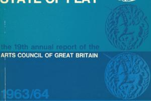 Cover of The 19th Annual Report of the Arts Council of Great Britain 1963/64.