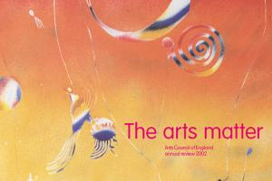Cover of Arts Council of England annual review 2002.