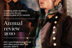Cover of Arts Council England Annual review 2010.
