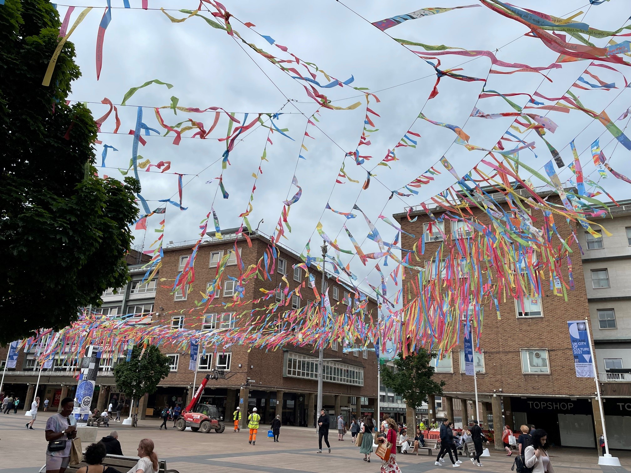 Ribbons in Coventry City Centre