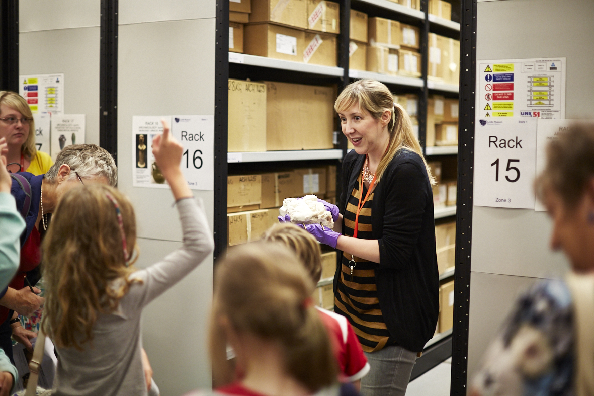 A curator working with young people