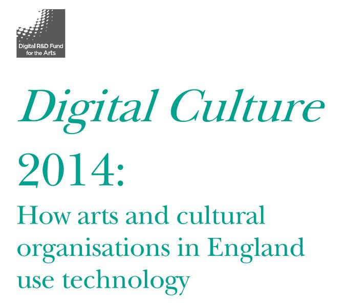 Front cover for Digital Culture fund report 2014