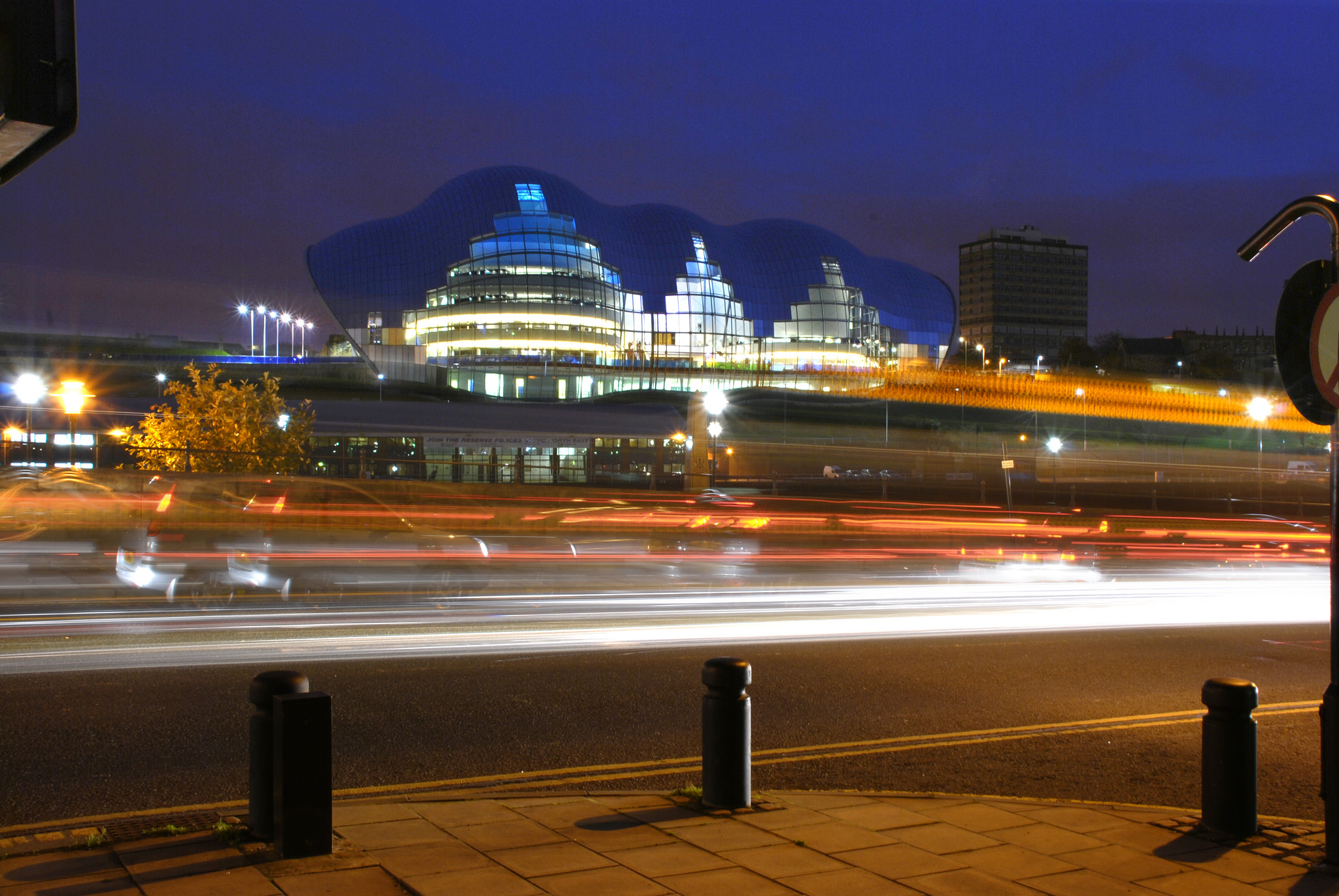 The exterior of Sage Gateshead.